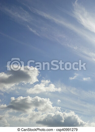 white clouds with blue sky - csp40991279