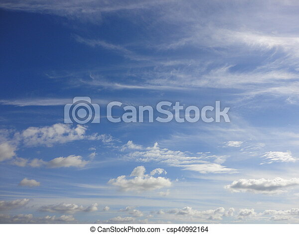 white clouds with blue sky - csp40992164