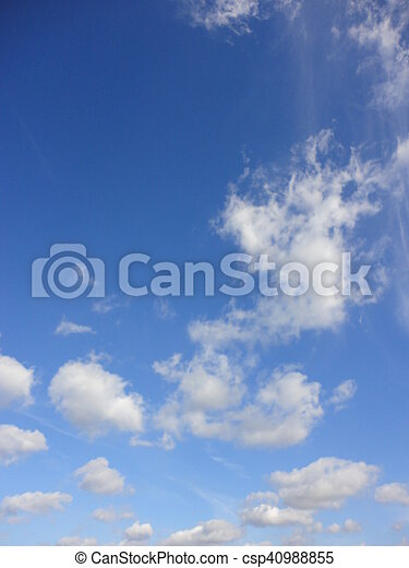 white clouds with blue sky - csp40988855