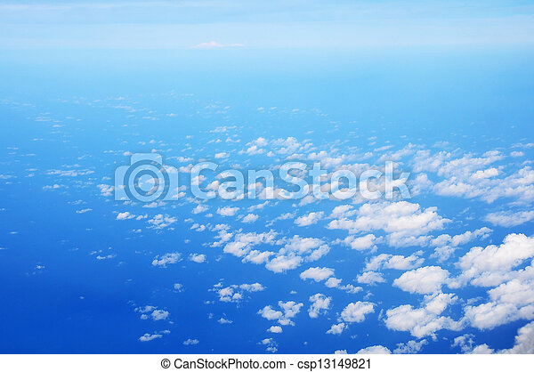 White clouds with blue sky - csp13149821