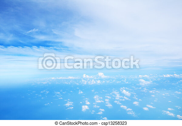 White clouds with blue sky - csp13258323