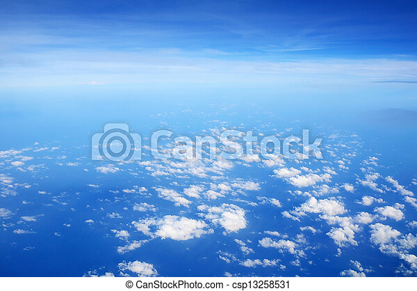 White clouds with blue sky - csp13258531