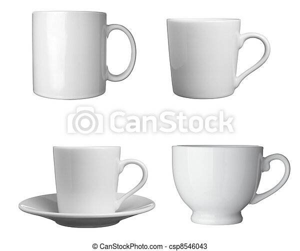 white coffee cup beverage drink food - csp8546043