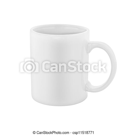 white coffee cup isolated included - csp11518771