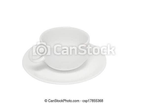 White coffee cup isolated - csp17855368