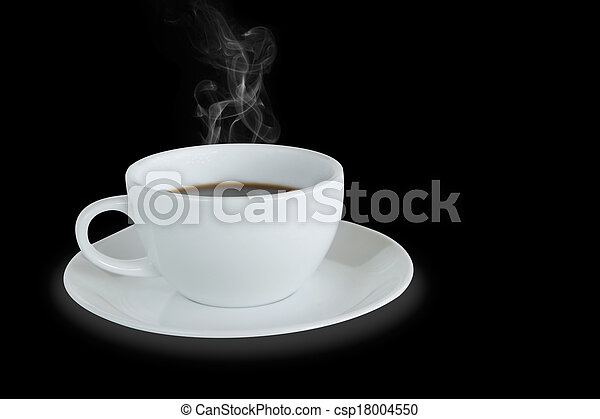 White coffee cup isolated - csp18004550