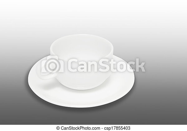 White coffee cup isolated - csp17855403