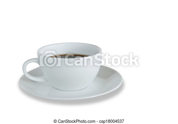 White coffee cup isolated - csp18004537