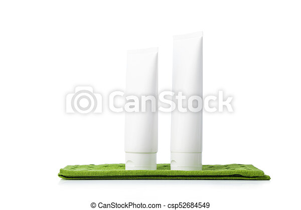 White colored blank cosmetic packaging - csp52684549