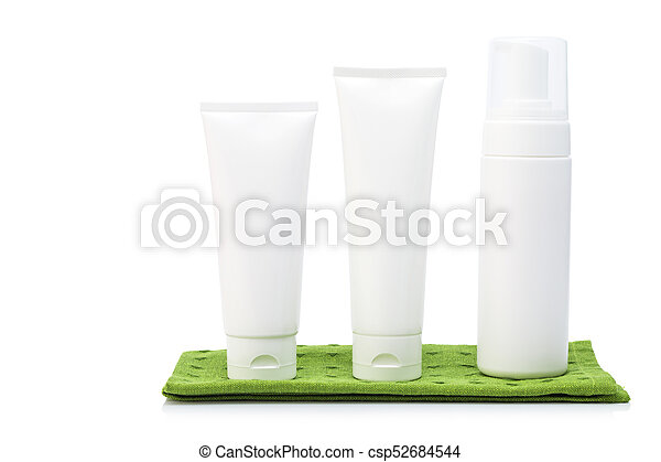 White colored blank cosmetic packaging - csp52684544