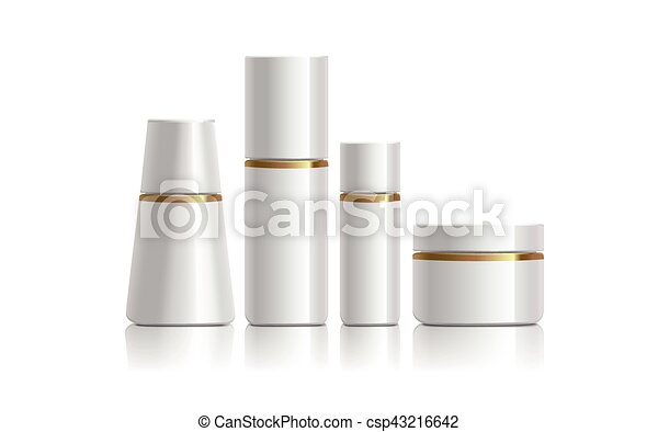 white cosmetic containers - csp43216642