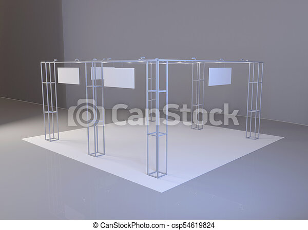 Exhibition Stand Or Booth : White creative exhibition stand design booth set template d