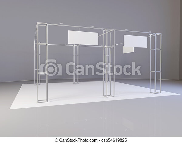 Exhibition Stand White : White creative exhibition stand design booth set template d