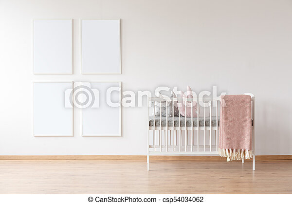 White crib and poster mockups - csp54034062