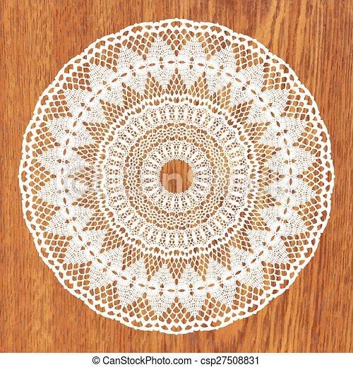 White crochet doily. - csp27508831