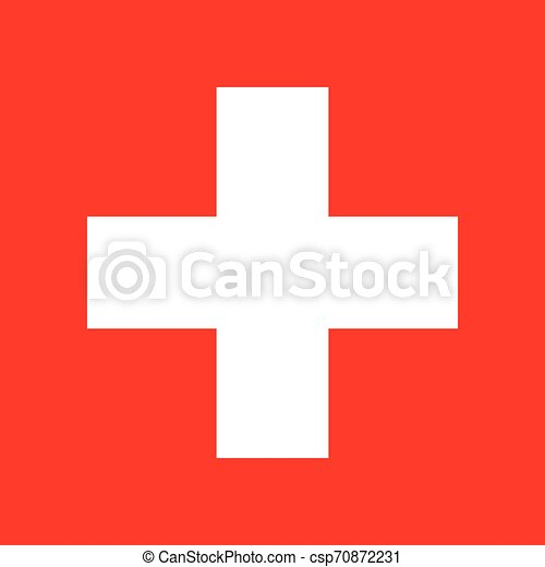 white cross in a red circle which is used to refer to medicine - csp70872231