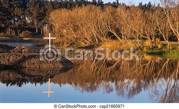 White Cross of Winter - csp21665971