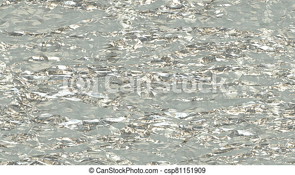 White Crumpled Foil Seamless Background Texture - csp81151909