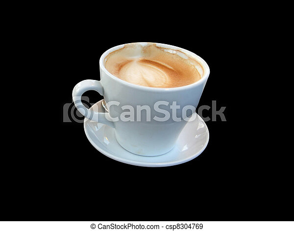 White Cup of  coffee latte				 - csp8304769