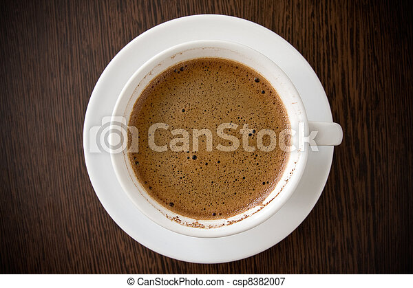 white cup with black coffee - csp8382007