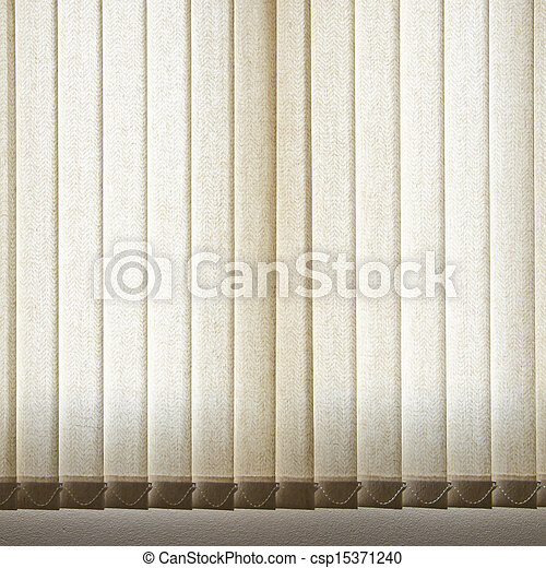 White Curtain and Window - csp15371240