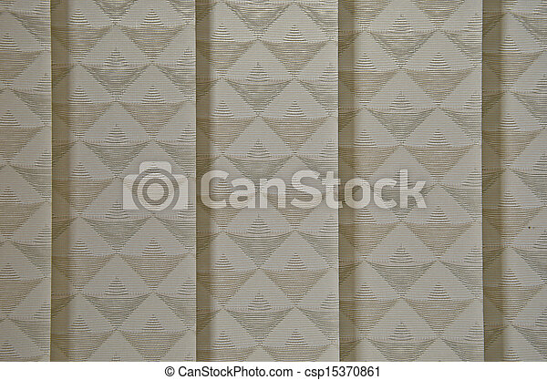 White Curtain Texture - csp15370861