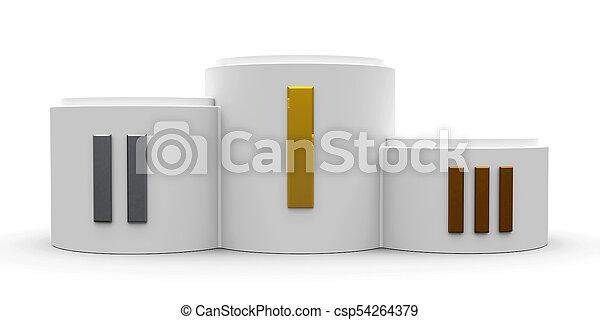 white cylinder podium roman 2 white cylinder podium with three