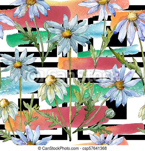 White Daisy Seamless Background Pattern Fabric Wallpaper Print