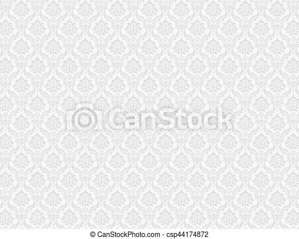 White Damask Pattern Background White Damask Wallpaper With