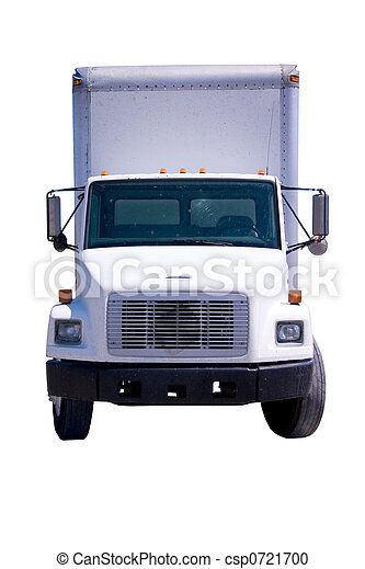 White Delivery Truck isolated - csp0721700