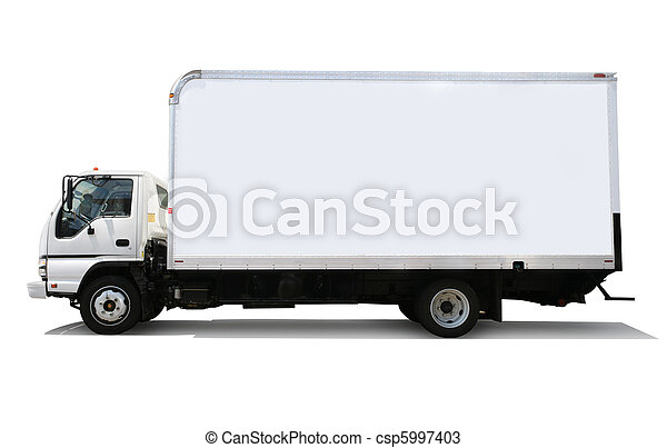 White delivery truck - csp5997403