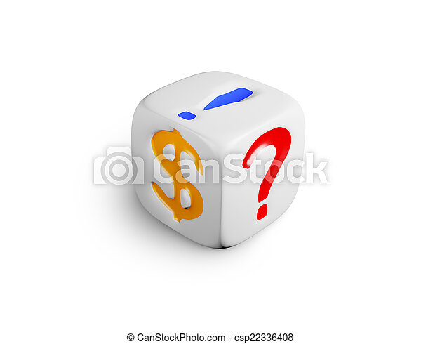 white dice - csp22336408
