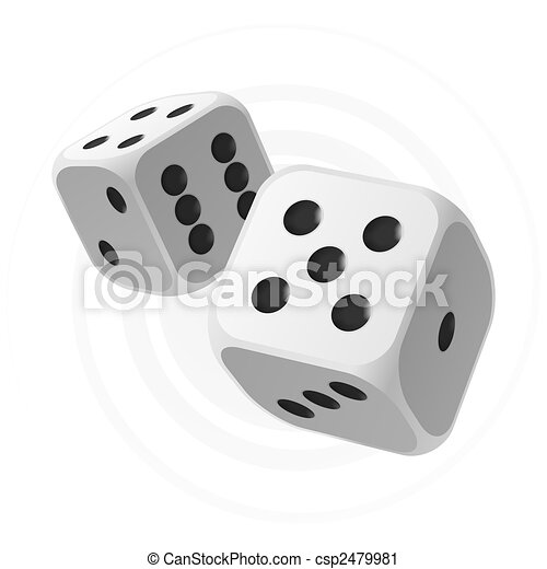 White dices - csp2479981
