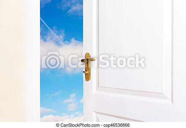 White doors are open to the new world - csp46536866