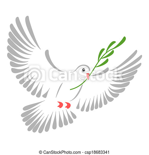 White Dove High Resolution Illustration Of A Stylized White Dove