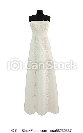 White dress isolated - csp58230387