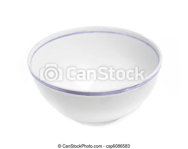 White empty bowl - csp6086583