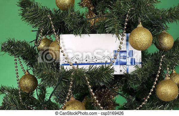 White envelope for christmas - csp3169426