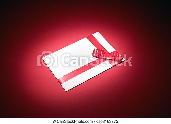 White envelope for christmas - csp3163775
