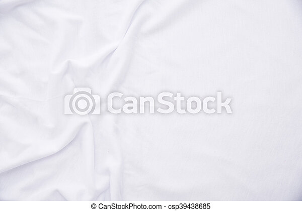 11504d58dc51de White fabric texture. Close up of wrinkled white color fabric bed ...
