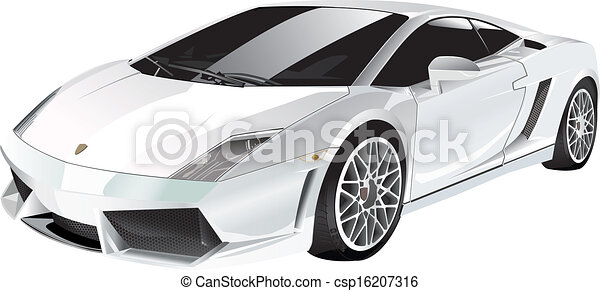 White fast car vector clip art - Search Illustration, Drawings, and ...