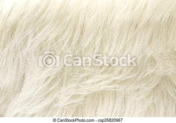 White Faux Fur Fabric