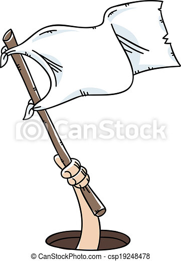 white flag surrender a cartoon hand holds and waves a white flag of rh canstockphoto com black and white checkered flag clip art white flag images clip art