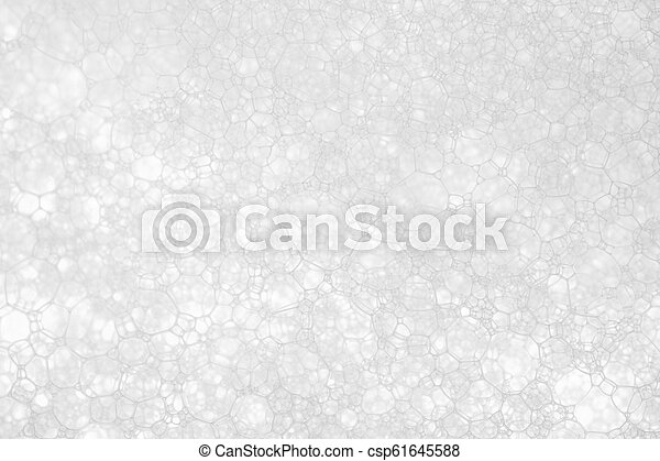 white foam texture abstract background closeup - csp61645588
