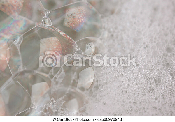 white foam texture abstract background closeup - csp60978948
