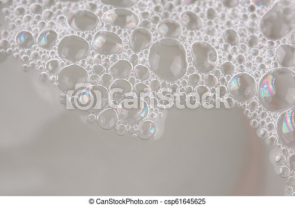 white foam texture abstract background closeup - csp61645625