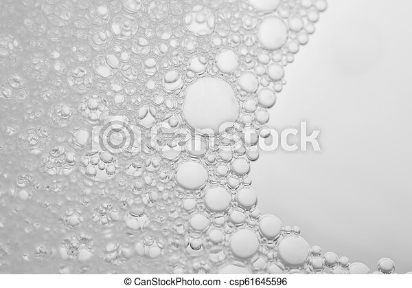 white foam texture abstract background closeup - csp61645596