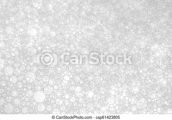 white foam texture abstract background closeup - csp61423805