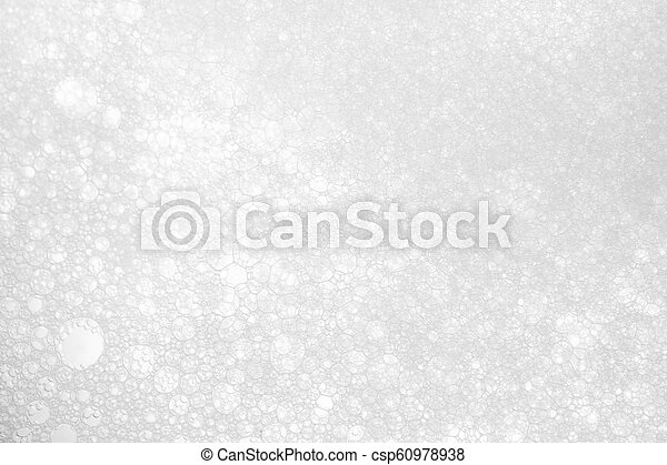 white foam texture abstract background closeup - csp60978938