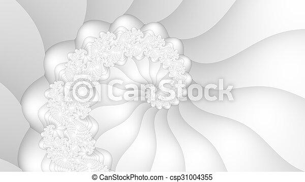 White fractal spiral background - csp31004355
